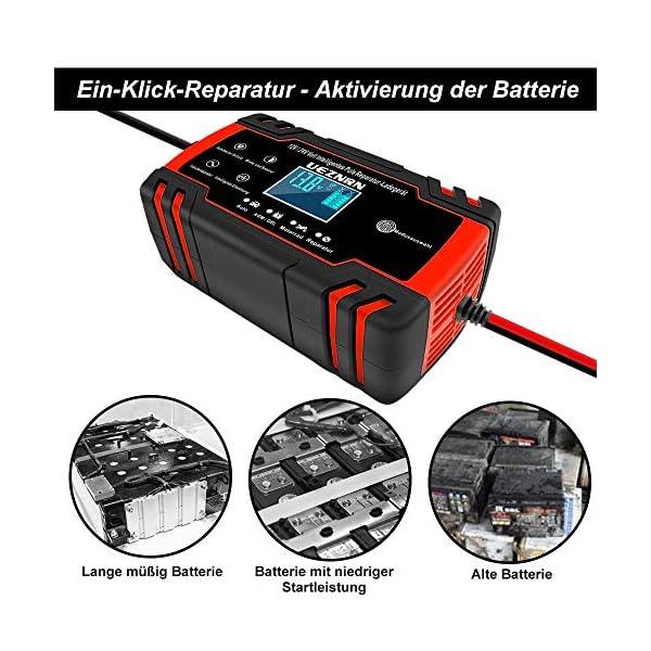 51louKDpFHL Ueznirn Ladegerät Autobatterie 12V/24V KFZ Batterieladegerät Vollautomatisches Intelligentes Erhaltungsladegerät mit LCD…