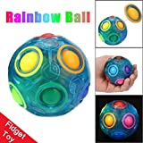 Falaiduo 2018 Stress Reliever Magic Rainbow Ball Fun Cube Puzzle Education Toy (blue)