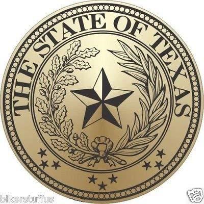 (MFX Design Texas State Seal Helmet Sticker Decal Bumper Sticker Decal Laptop Sticker Decal Hard Hat Sticker Decal Vinyl - Made in USA 3 in. Round)