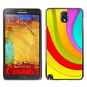 Shell-Star ( Color Stripes ) Fundas Cover Cubre Hard Case Cover para Samsung Galaxy Note 3 III / N9000 / N9005