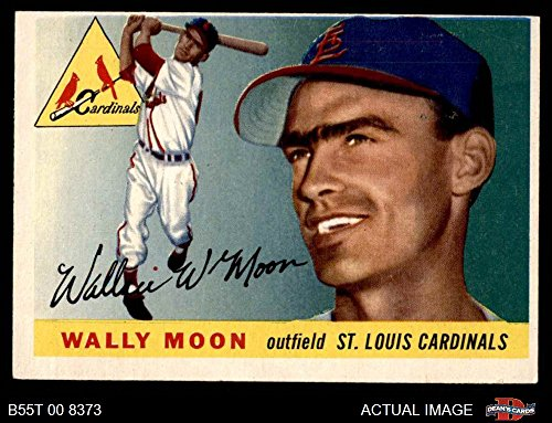1955 Topps # 67 DOT Wally Moon St. Louis Cardinals (Baseball Card) (Red Dot over E in Wallace signature) Dean's Cards 4 - VG/EX Cardinals