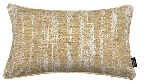 McAlister Textured Chenille 12×18″ Oblong Pillow Cover | Natural Beige Tan Zip Decor Cushion Case | Soft Chenille Velvet Linen | Metallic Modern Rustic Accent Review