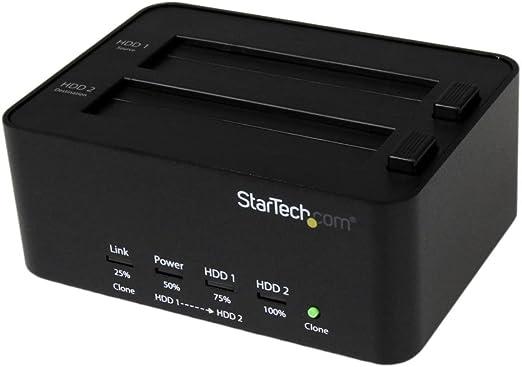 StarTech.com USB 3.0接続SATAハードディスク用デュプリケータ 2.5/3.5インチHDD/SSD対応スタンド クレードル式HDDリーダーライター SATDOCK2REU3
