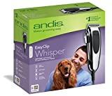 ANDIS COMPANY PET Easy Clip Whisper Clipper Kit For Pets Silver 12 PC