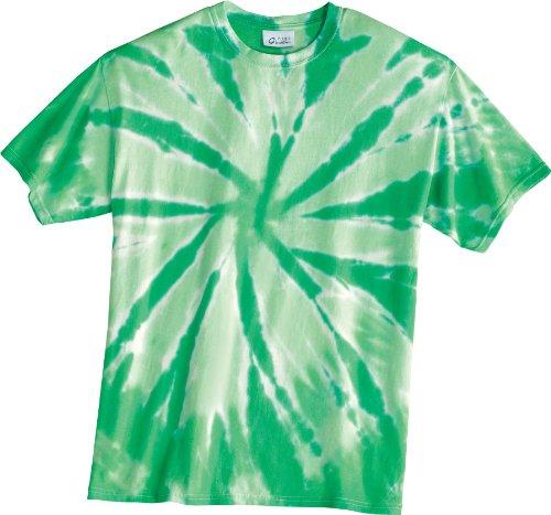 Green Tie Dye (Port & Company Tie-Dye Tee, 4XL, Kelly)