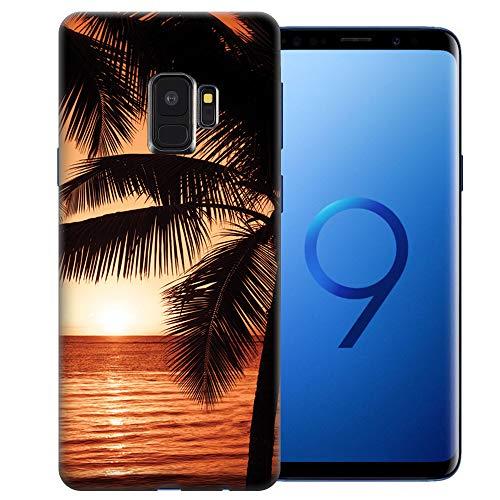 (MUNDAZE for Samsung Galaxy S9 UV Printed Design Case - Paradise Sunset Design TPU Gel Phone Cover)