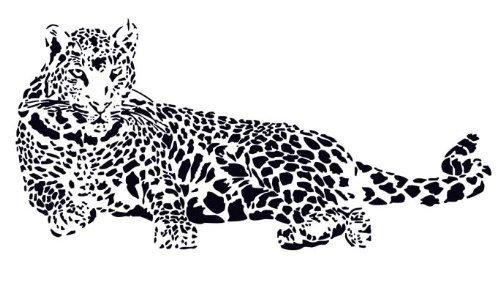 Silhouette Mirror (Huge Cheetah Leopard Jaguar Cat Wall Mural Vinyl)