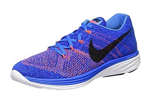 16aa16a0748 Galleon - Nike Mens Flyknit Lunar3 Running Shoe (Photo Blue/black-concord-white,  15)