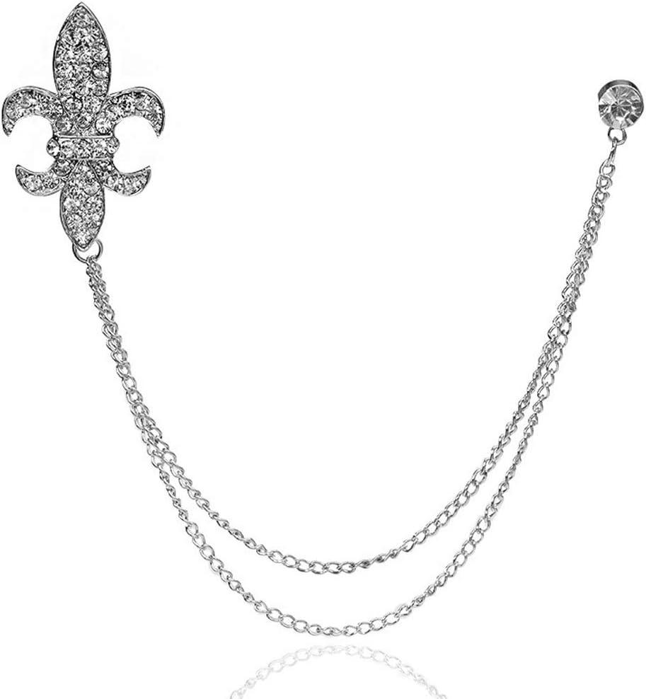 Gaorb Broche Femme Color : White Broche Vintage Cha/îne Tassel Baroque Ancre Arm/ée Arm/ée Fleur Vintage Corsage Pin V/êtements pour Femmes Accessoires 4.5x3cm