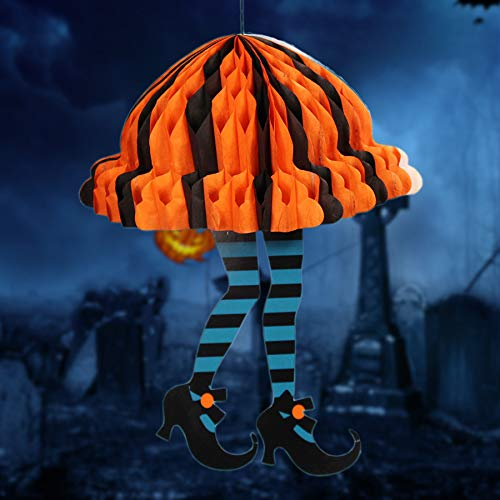 wgg Halloween Hanging Ornament Skirt /& High Heels Honeycomb Paper Pendant Haunted House Decorations Ghost Festival Scene Props