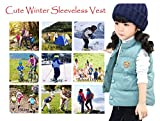 LANBAOSI Baby Girls&Boys Winter Cute High Neck Vest Lightweight Puffer Sleeveless Jacket