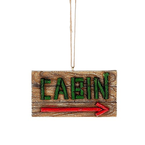 Cabin This Way Arrow Sign Hanging Christmas Ornament (Arrow Christmas Ornament)