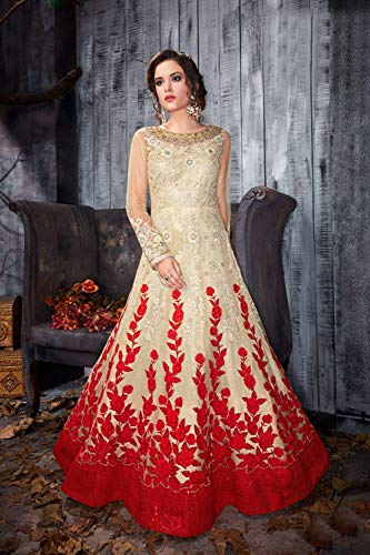 Traditonal Women With Ethnic Salwar Designer Red Kameez Indian Partywear Carem wnPTqB4q7f
