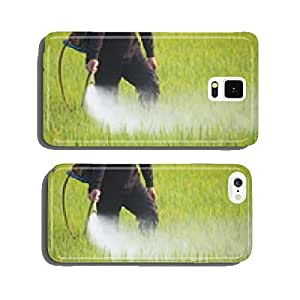farmer spraying pesticide in the rice field cell phone cover case iPhone6 Plus