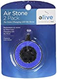 Elive Color Changing L.E.D. Air Stone Replacement 2 Pack