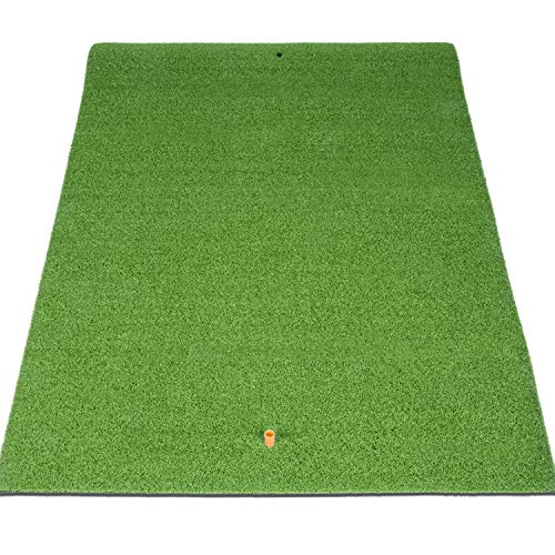 SkyLife Golf Mat 39'' x 49'' Residential Practice Hitting Grass Mat with Removable Rubber Tee Holder, Home Backyard Garage Outdoor Practice (39'' X 49'')