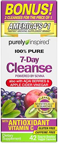 Purely Inspired Organic 7 Day Cleanse, Unique Senna Leaf Extract Formula with Antioxidant (Vitamin C), Superfruits, Probiotic & Digestive Enzymes, 42 Count (packaging may vary) 5