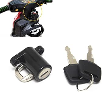 AKDSteel Helmet Lock Hanger Hook for Universal Motorcycle Motorbike Bike Car-Styling and 2 Keys Set Products