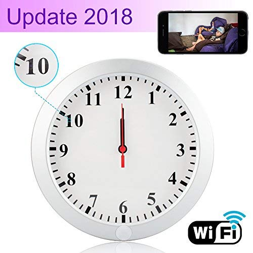 CAMXSW Upgrade WiFi Spy Camera HD 1080P Wall Clock 5000mAh Hidden Cameras with Motion Detection Alarm Clock Camera Pinhole CamNanny Cam Spy Mini Video Recorder Support Android iOS Review