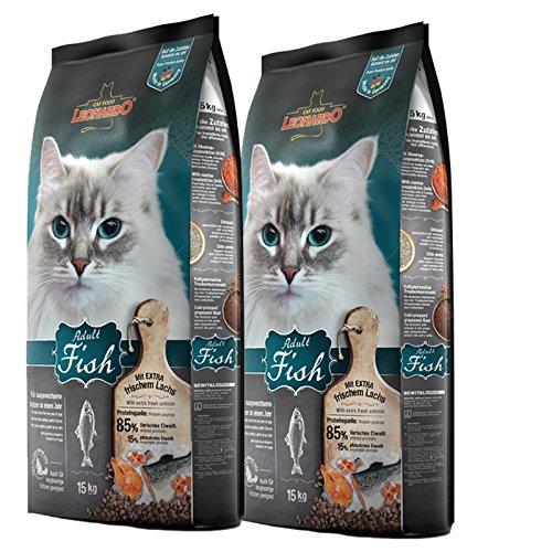 2 x 15 kg Leonardo Adult Fish Premium Katzenfutter trocken für Katzen ab 1 Jahr
