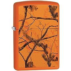 Zippo Realtree AP Blaze Pocket Lighter, Orange Matte