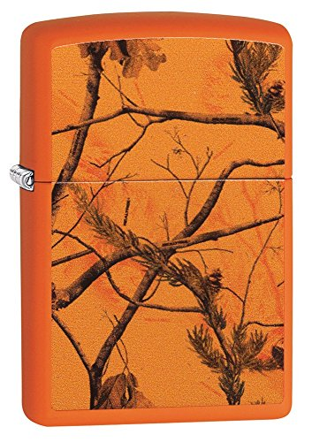 Zippo Realtree AP Blaze Pocket Lighter, Orange Matte
