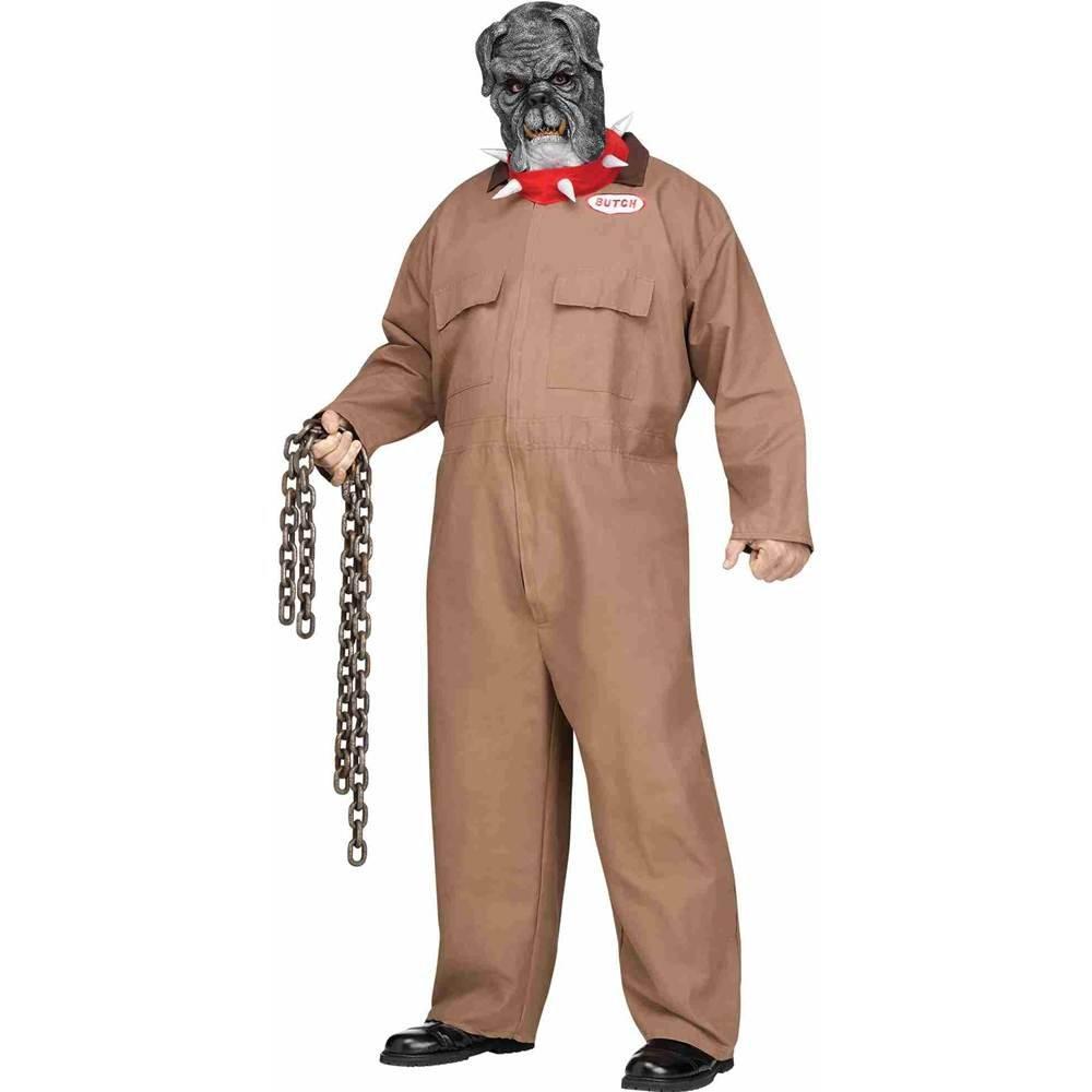 Fun World Costumes Blautrünstiger Hund Halloween-Kostüm Sträfling Plus Größe Orange-grau XL   XXL