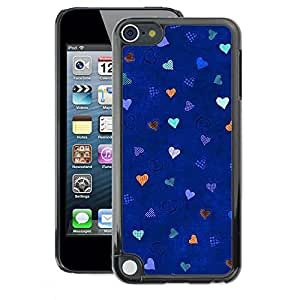 A-type Arte & diseño plástico duro Fundas Cover Cubre Hard Case Cover para Apple iPod Touch 5 (Blue Stars Pattern Love)