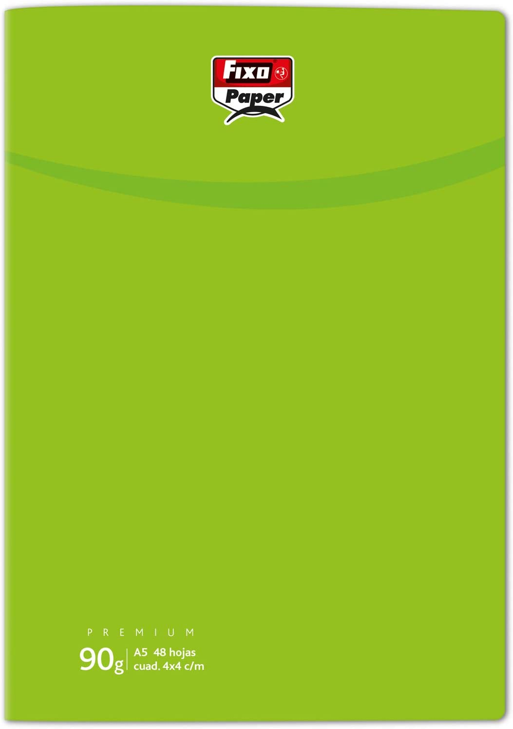 Fixo 98853721 Notebook with Staples, 4 mm Squared, 90 g, Light Green, A5