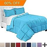5-Piece Bed-In-A-Bag - Twin XL Extra Long (Comforter Set: Aqua, Sheet Set: Aqua)