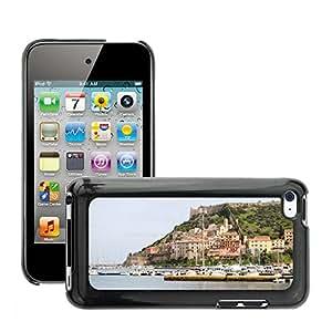 Etui Housse Coque de Protection Cover Rigide pour // M00171711 Naves Puerto Ciudad Italia Porto Ercole // Apple ipod Touch 4 4G 4th