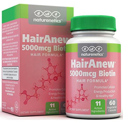 Biotine croissance des cheveux Vitamines - 11 Ingrédients puissantes, y compris 5000mcg biotine - 3ème partie testée et certifiés - Adresses carences en vitamines qui pourraient causer la perte de cheveux * - favorise la croissance cellulaire * - 60 Veget