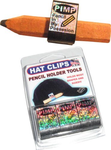 Holder Tools for golf or carpenter pencils and more! These clips look as great as they perform! 3 PACK of GLITTER REFLECTIVE CLIPS ()