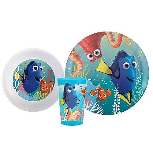 (Finding Dory Dish Set Finding Dory Party Supplies Dish Cup Plate Set Finding Nemo Dory Movie Children's Meal Set by Spider-Man )