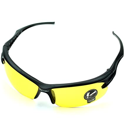 8efc15a09b Image Unavailable. Image not available for. Color  GaoCold Hot Sports UV400  HD Night Vision Cycling Riding Driving Glasses Motorcycle ...