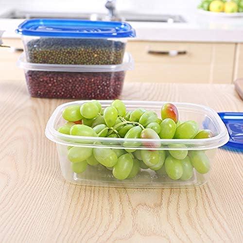 GSOLOYL ¡50 pcs!Amigable Eco Desechables Contenedores de Comida con Tapa de plástico for Llevar los Alimentos Caja de empaquetado for el Almuerzo Bandeja de los Pasteles de la Galleta de la Fruta: