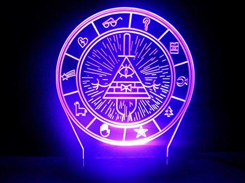 Gravity Falls Bill Cipher Wheel Secrets Map Led Night Light Desk Lamp Buy Online In Uae