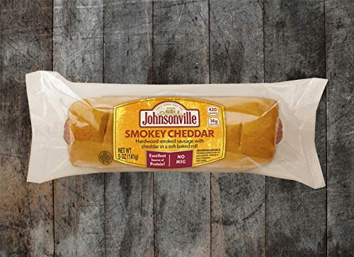 Johnsonville Smokey Cheddar Sausage in Soft Baked Roll, 5 Ounce -- 24 per case.