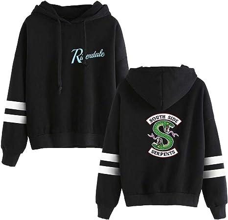 Image ofOLIPHEE Camisetas béisbol con Capucha Impresa Serpiente de Riverdale para Mujer