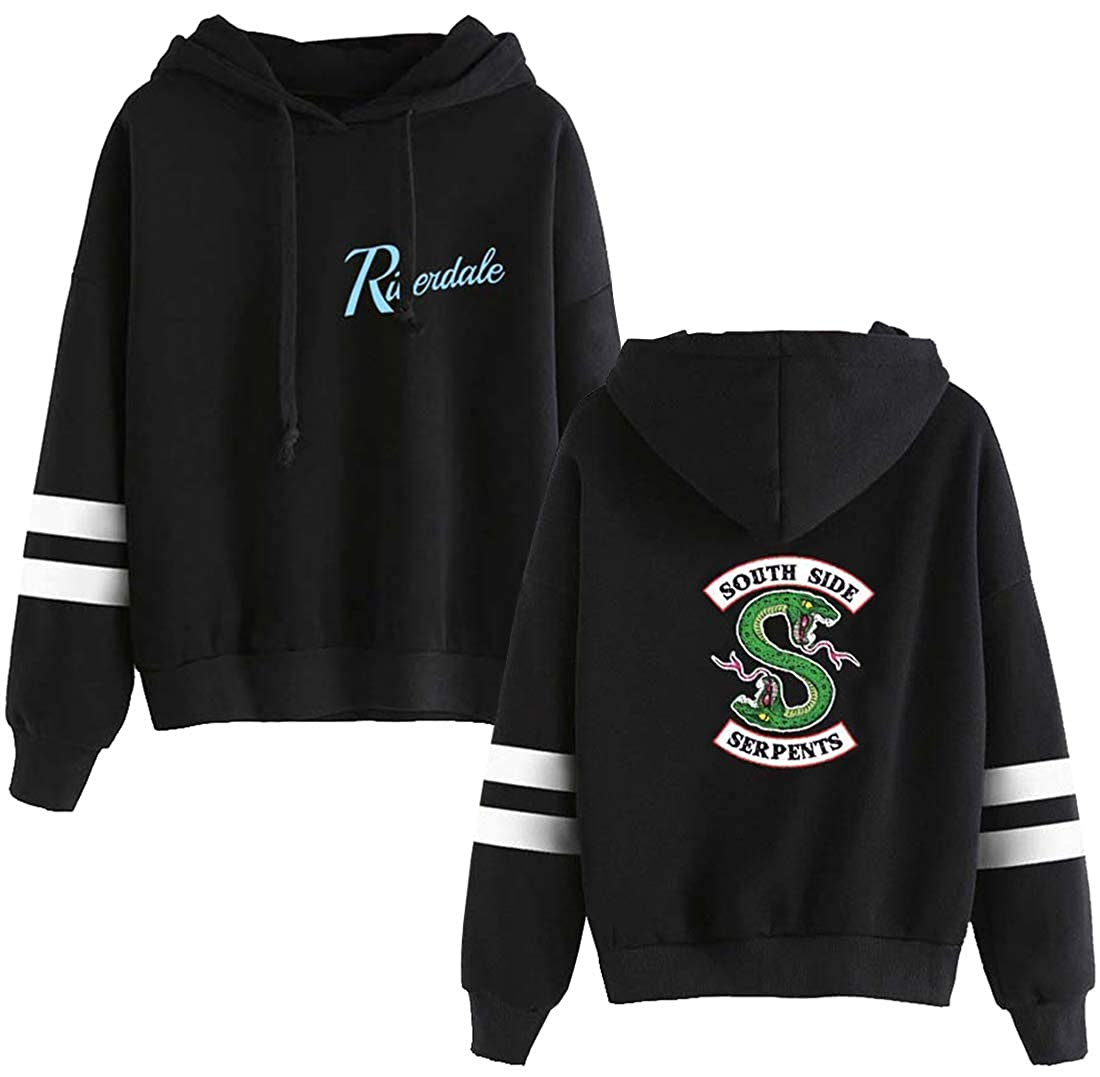 Amazon.com: Eudolah Mens Novelty Riverdale Long Sleeve Stripe Southside Serpents Hoodie Outerwear Jughead Jones Jumper: Clothing