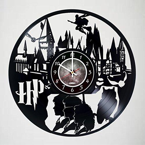Harry Potter Merchandise - Vinyl Record Wall Clock - Hogwart