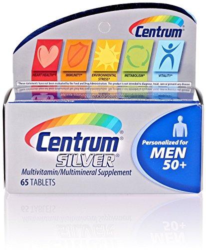 (2 Pack) Centrum Silver Men 50+, 65 Count each