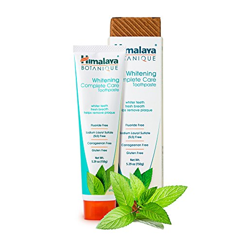 Himalaya Whitening Toothpaste - Simply Mint 5.29 oz/150 gm (1 Pack), Natural, Flouride-Free & SLS-Free (Best Natural Toothpaste Reviews)