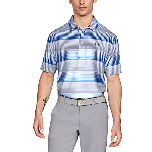 Price comparison product image Under Armour Men's Playoff Polo,  White (120) / Overcast Gray,  Large