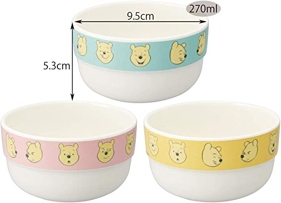 Details about  /Disney Winnie the Pooh Botanical Art salad party set made in Japan white bowl C
