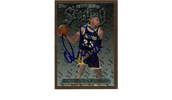 d56aa9a0113 Cedric Ceballos autographed Basketball Card (Los Angeles Lakers) 1996 Topps  Finest Sterling  34 at Amazon s Sports Collectibles Store