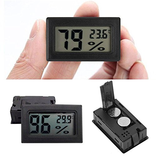 Price comparison product image Bihood Thermometer Weather Channel Thermometer Instant Read Thermometer Digital Thermometer Grainger Thermometer Barometer Thermometer Hygrometer Indoor Outdoor Thermonter Humidity Meter Gauge Black