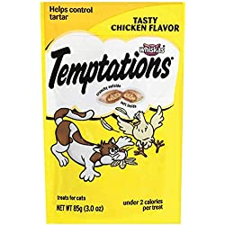 Temptations Classic Treats For Cats Tasty Chicken Flavor 3 Ounces (Pack Of 12)