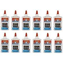Elmer's E305  Washable School Glue, 5 oz Bottle, 12 Pack, Clear
