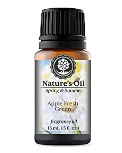 Apple Fresh Green Fragrance Oil (15ml) For Diffusers, Soap Making, Candles, Lotion, Home Scents, Linen Spray, Bath Bombs, Slime